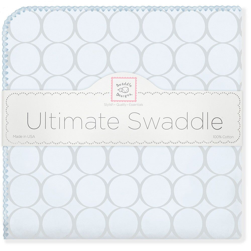 SwaddleDesigns Пеленка фланелевая Пастель круги цвет голубой фланелевая пеленка swaddledesigns для новорожденного pink chickies sd 162p