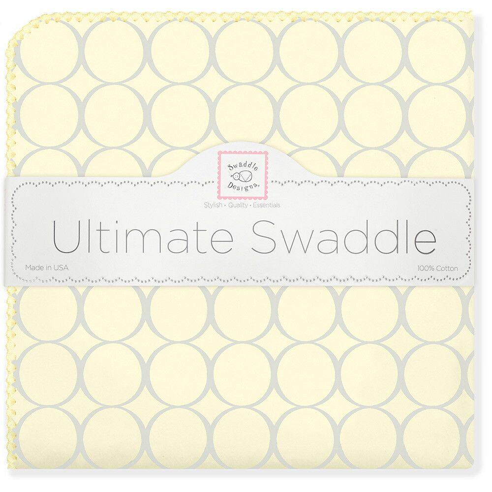 SwaddleDesigns Пеленка фланелевая Пастель круги цвет желтый фланелевая пеленка swaddledesigns дл�� новорожденного bt blue polka dot sd 001b