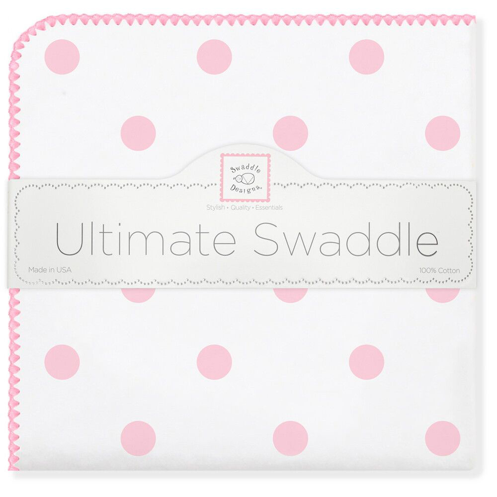 SwaddleDesigns Пеленка фланелевая Ultimate Big Dots Pink бандана нагрудник swaddledesigns муслиновая pink french dots sdm 541pp