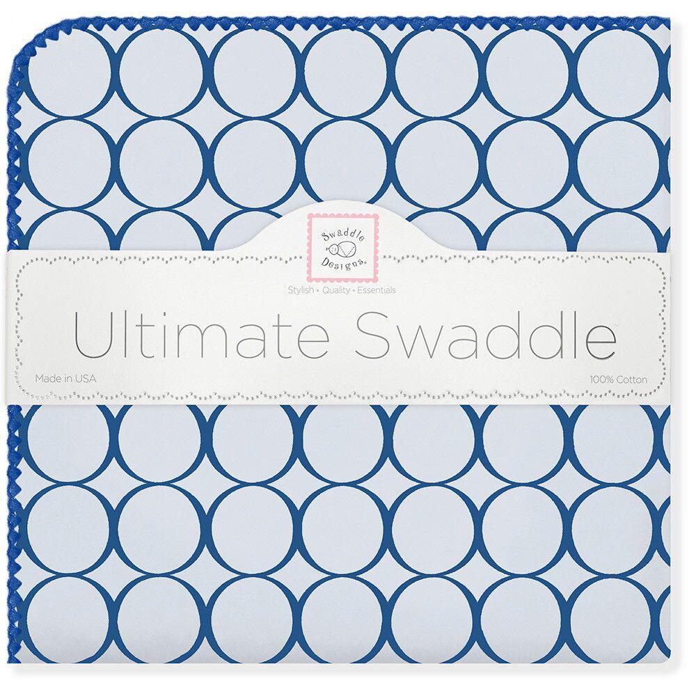 SwaddleDesigns Пеленка фланелевая Кружки цвет голубой