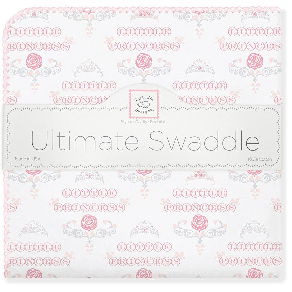 SwaddleDesigns Пеленка фланелевая PP Little Princess фланелевая пеленка swaddledesigns для новорожденного pink chickies sd 162p