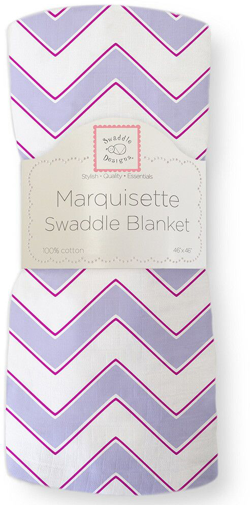 SwaddleDesigns Пеленка тонкая Marquisette Lavender Chevron swaddledesigns пеленка тонкая marquisette simple stripes pstl seacrystal