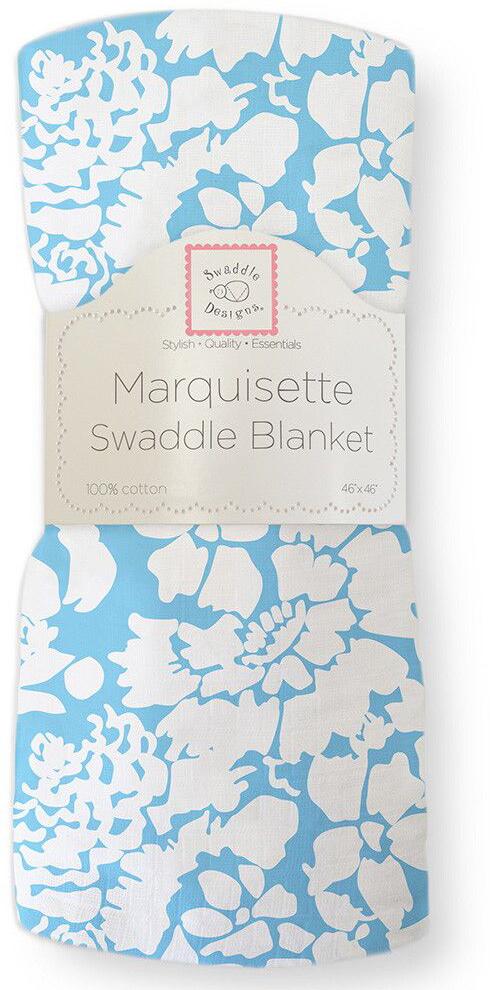 SwaddleDesigns Пеленка тонкая Marquisette Blue Lush