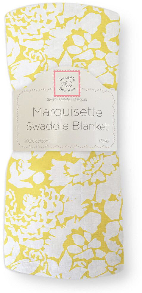 SwaddleDesigns Пеленка тонкая Marquisette Yellow Lush swaddledesigns пеленка тонкая marquisette simple stripes pstl seacrystal