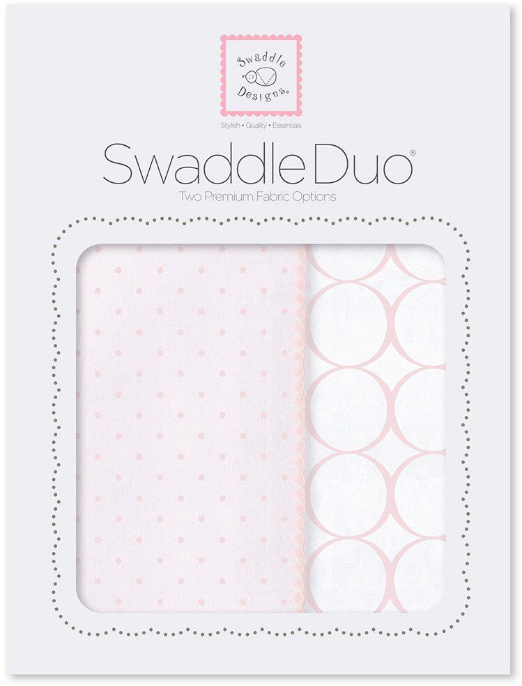 SwaddleDesigns Набор Swaddle Duo PP Dot Mod Circle 2 шт