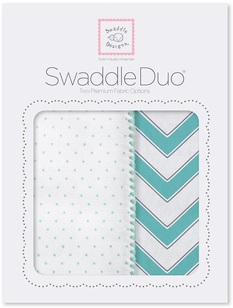 SwaddleDesigns Набор пеленок Swaddle Duo SC Classic Chevron 2 шт набор пеленок swaddledesigns swaddle duo pstl pink modern