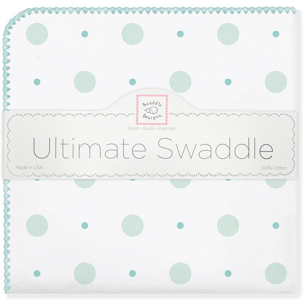 SwaddleDesigns Пеленка фланелевая SC Big Dot Lt Dot