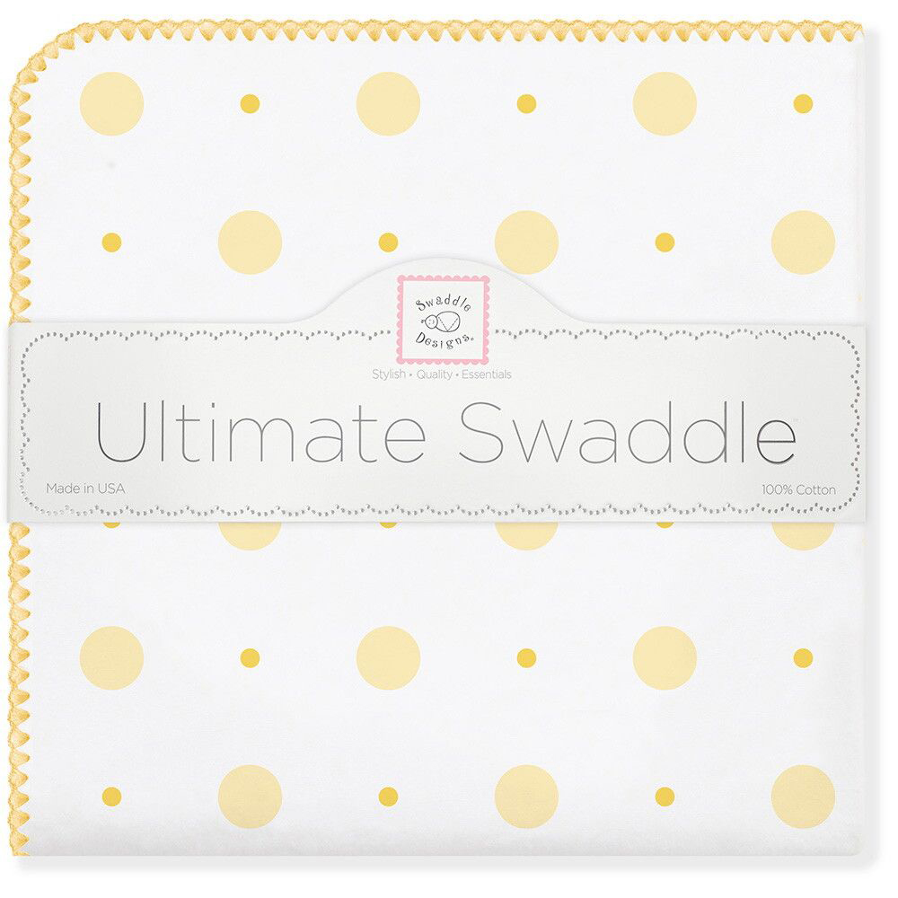 SwaddleDesigns Пеленка фланелевая YW Big Dot Lt Dot swaddledesigns пеленка фланелевая bt blue polka dot