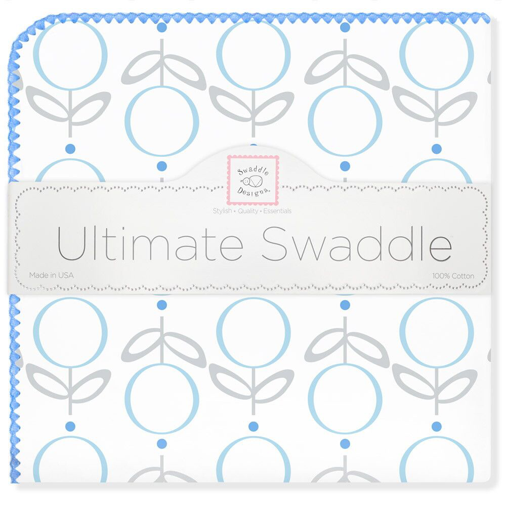 SwaddleDesigns Пеленка фланелевая Ultimate Lolli Fleur Blue фланелевая пеленка swaddledesigns дл�� новорожденного bt blue polka dot sd 001b