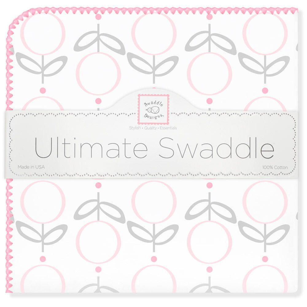 SwaddleDesigns Пеленка фланелевая Ultimate Lolli Fleur Pink фланелевая пеленка swaddledesigns дл�� новорожденного bt blue polka dot sd 001b
