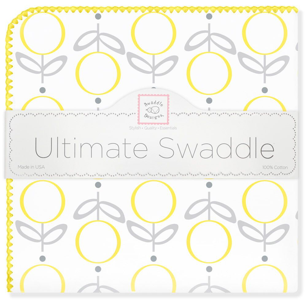 SwaddleDesigns Пеленка фланелевая Ultimate Lolli Fleur Yellow