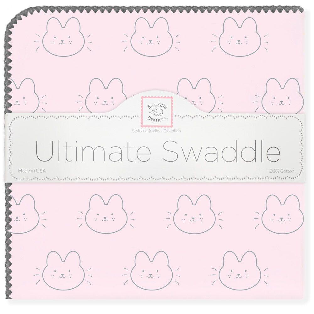 SwaddleDesigns Пеленка фланелевая Ultimate Bonjour Bunnie Pstl Pink
