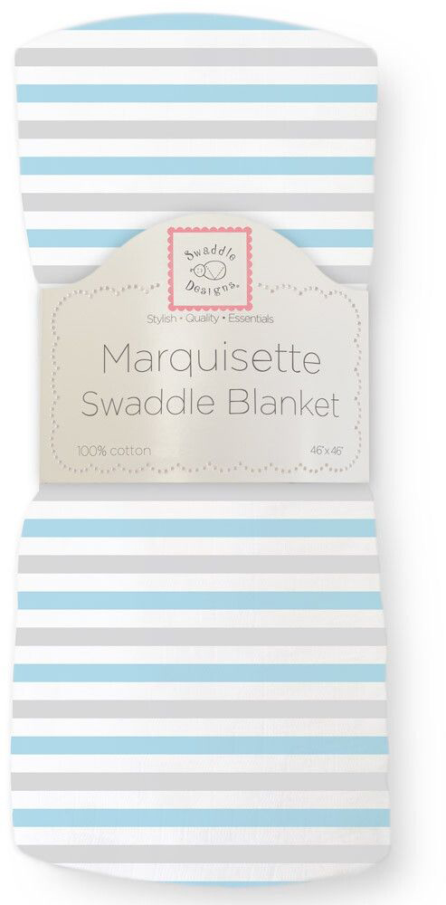 SwaddleDesigns Пеленка тонкая Marquisette Simple Stripes Pstl Blue цены