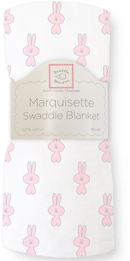 SwaddleDesigns Пеленка тонкая Marquisette Little Bunnie Pstl Pink пеленка детская тонкая swaddledesigns маркизет little bunnie pstl pink