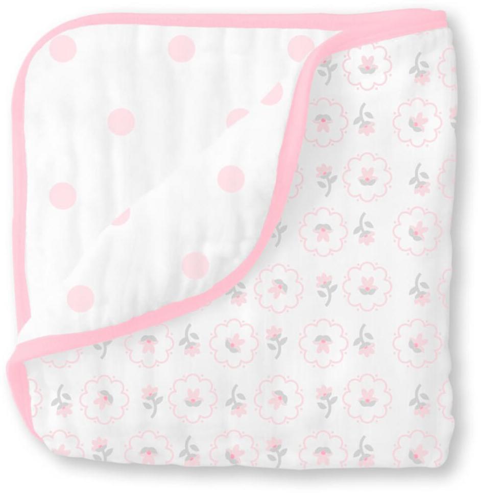 SwaddleDesigns Одеяло детское муслиновое Luxe Muslin Pink Posies 116 х 116 см