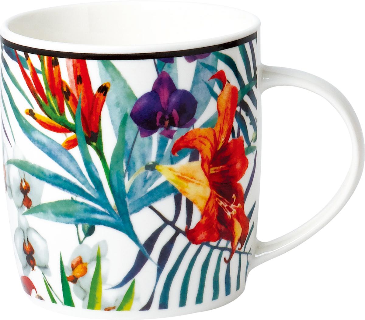 """Кружка """"Rainbow"""" выполнена из высококачественного фарфора. Посуда из такого материала позволяет сохранить истинный вкус напитка, а также помогает дольше оставаться теплым. Кружка оснащена очень удобной ручкой.Объем: 350 мл."""