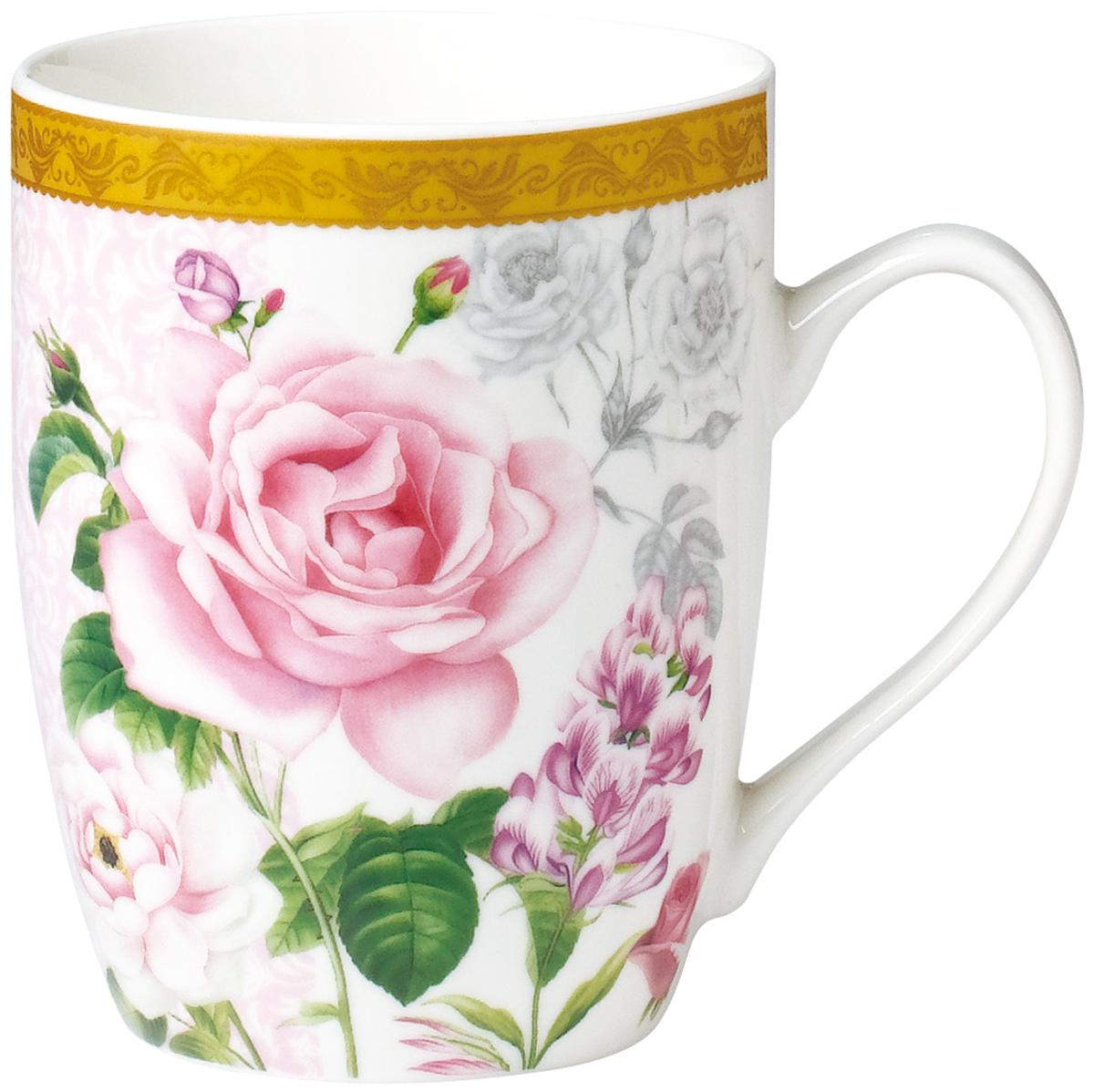 """Кружка Rainbow """"Аромат Розы"""" выполнена из высококачественного фарфора. Посуда из такого материала позволяет сохранить истинный вкус напитка, а также помогает дольше оставаться теплым. Кружка оснащена очень удобной ручкой."""