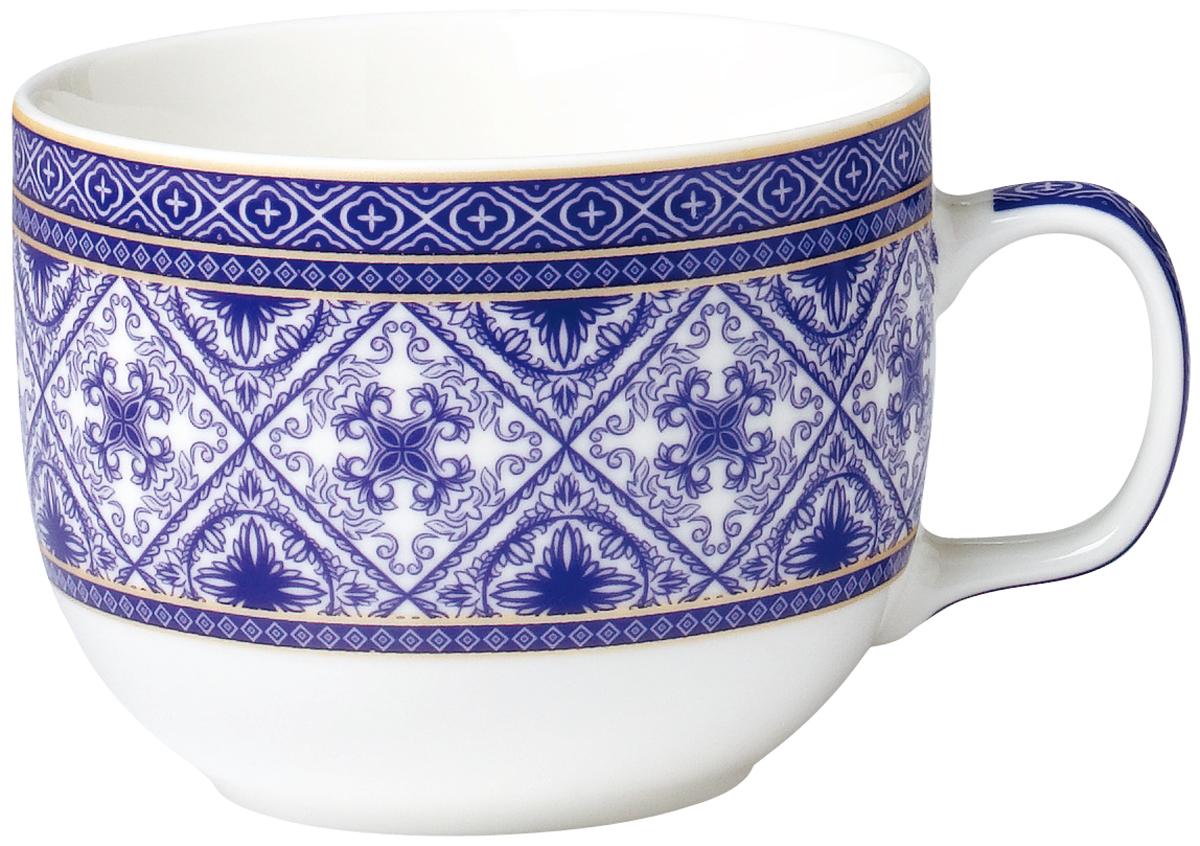 Бульонница фарфоровая, Арабески  Rainbow изготовлена из высококачественного фарфора, декорирована ярким узором и оснащена эргономичной ручкой. Такая бульонница подойдет не только для супа, но и для чая или кофе. Она дополнит коллекцию кухонной посуды и будет служить долгие годы.