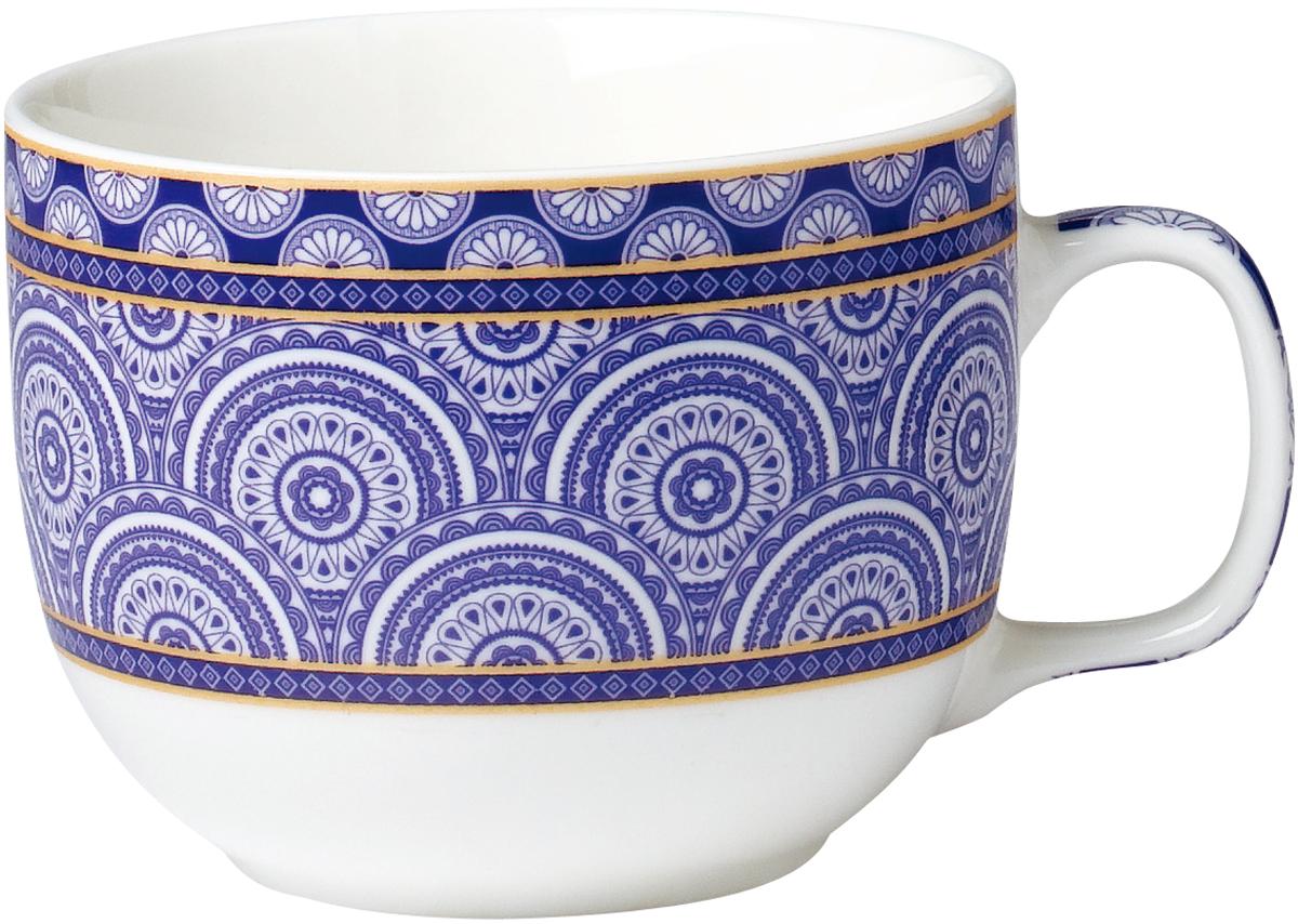 Бульонница  изготовлена из высококачественного фарфора, декорирована ярким узором и оснащена эргономичной ручкой. Такая бульонница подойдет не только для супа, но и для чая или кофе. Она дополнит коллекцию кухонной посуды и будет служить долгие годы.