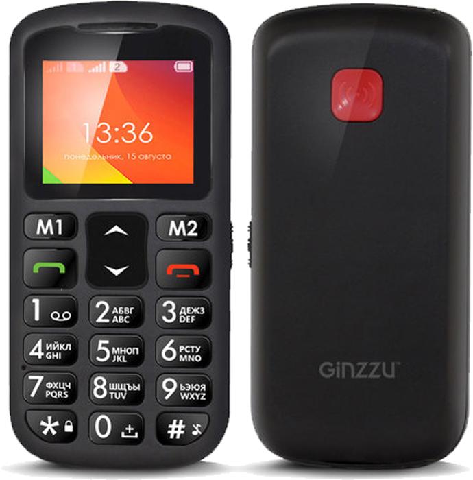 Ginzzu MB601, Black мобильный телефон ginzzu rs 71 d black orange