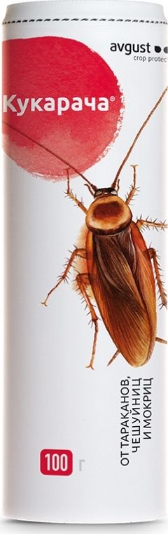Гранулы от тараканов и мокриц Avgust Кукарача, 100 г