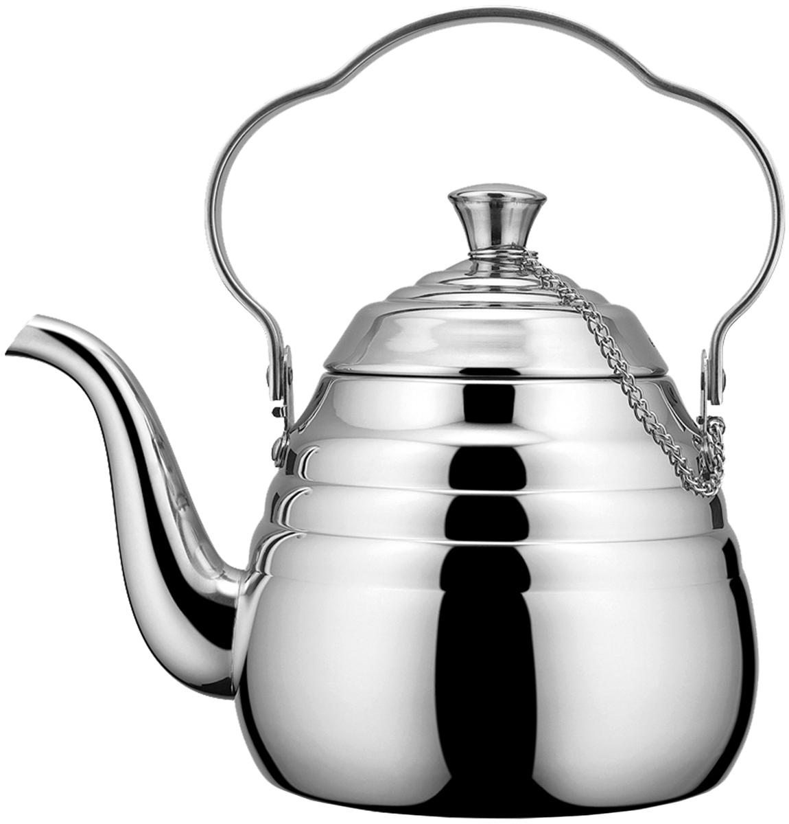Чайник Fissman Trouville, для кипячения воды и заваривания чая, 1,5 л gipfel чайник для кипячения воды visit 2 7 л