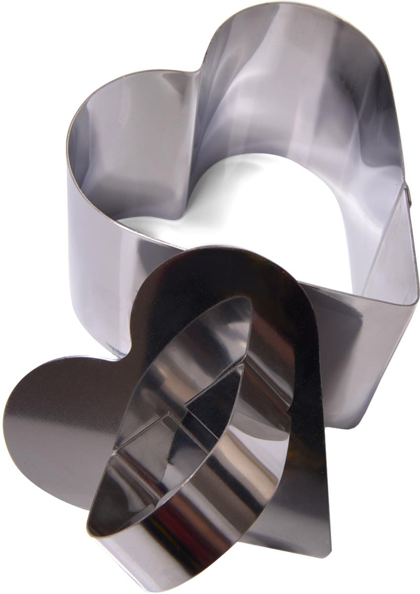 Кольцо кулинарное Fissman, с прессом, в форме сердца, 7,5 х 6,8 х 5,5 см