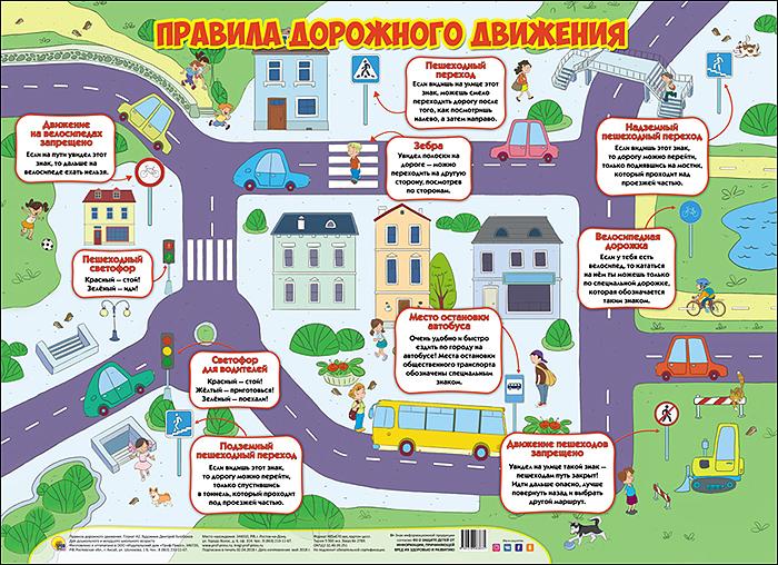 Правила дорожного движения. Плакат стоимость