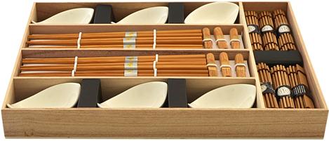 Набор для суши Fissman, на 6 персон, 24 предмета. 9581 набор палочек для суши на 5 персон 25 11 2см уп 1 100наб