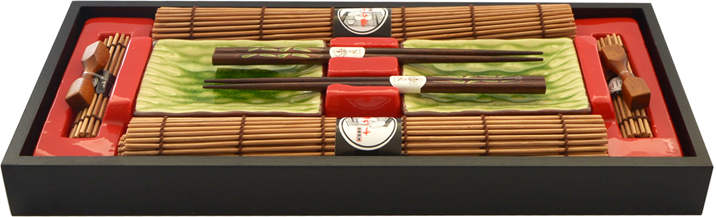 Набор для суши Fissman, на 2 персоны, 10 предметов. 9587 аксессуар для алкоголя akso набор подарочный рыбацкий на 2 персоны 129ки2