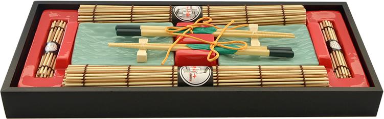 Набор для суши Fissman, на 2 персоны, 10 предметов. 9588 аксессуар для алкоголя akso набор подарочный рыбацкий на 2 персоны 129ки2