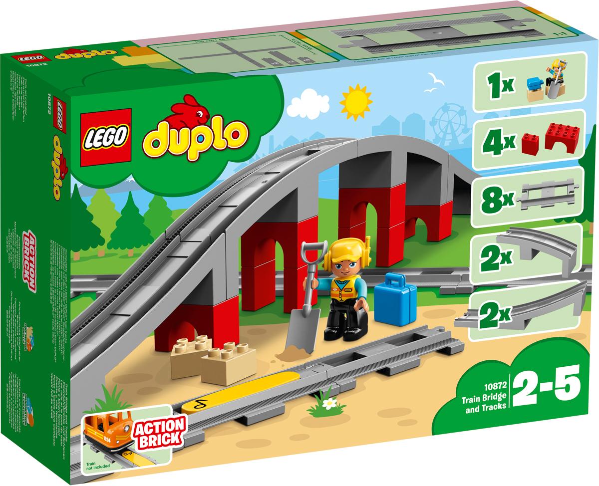 LEGO DUPLO Town Конструктор Железнодорожный мост 10872 железнодорожный мост tomy tomica 85200