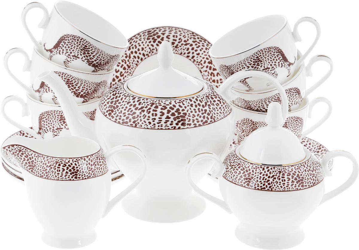 Сервиз чайный Royal Aurel Сафари, 15 предметов anny cosmetics 6 in 1 мульти средство 6 в 1 основа уход закрепление 15 мл