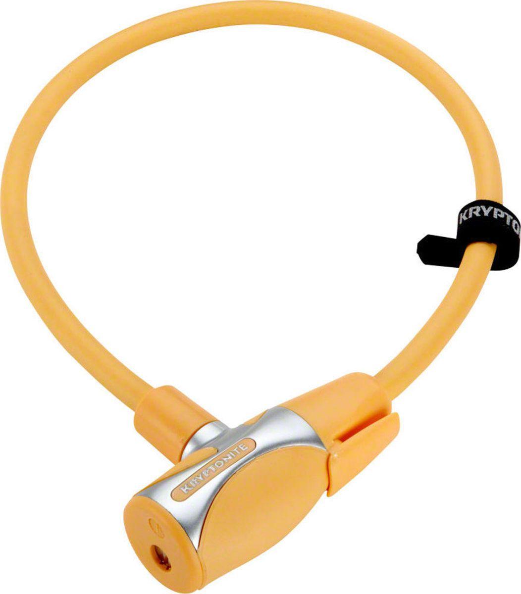 Замок велосипедный Kryptonite Cables KryptoFlex 1265, цвет: оранжевый
