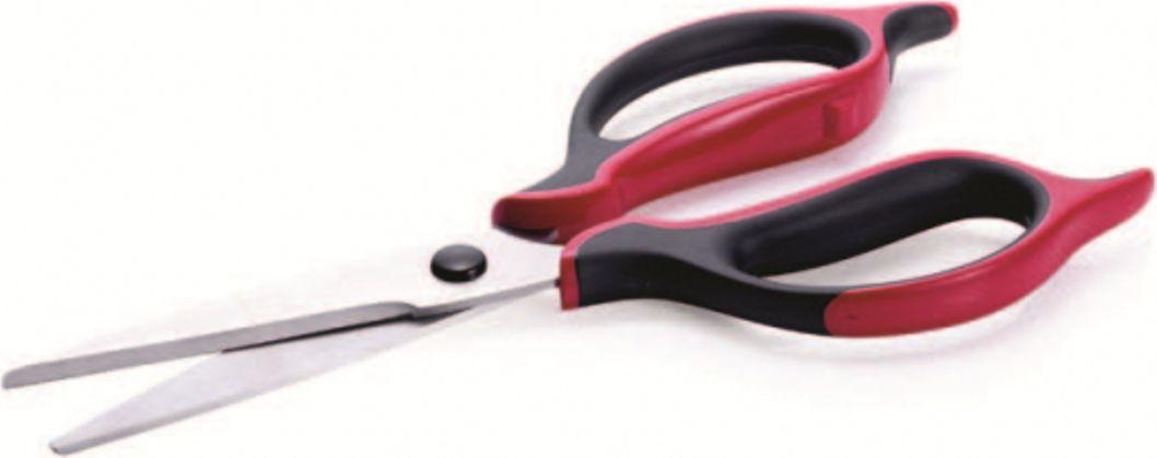 Полимер, из которого изготовлена кольца ножниц, очень мягкий и имеет высокую износостойкость.Качественная нержавеющая сталь, из которой выполнены лезвия ножниц, обеспечивает высокие характеристики прочности и долгий срок службы.Благодаря удобной форме ручек давление равномерно распределяется между рукой и ножницами. Рука не устает даже при длительной работе.На внутренней поверхности лезвия расположены небольшие зубчики, которые позволяют более точно резать продукты.Ножницы легко разбираются, если развести лезвия до упора. В таком положении их необходимо мыть.