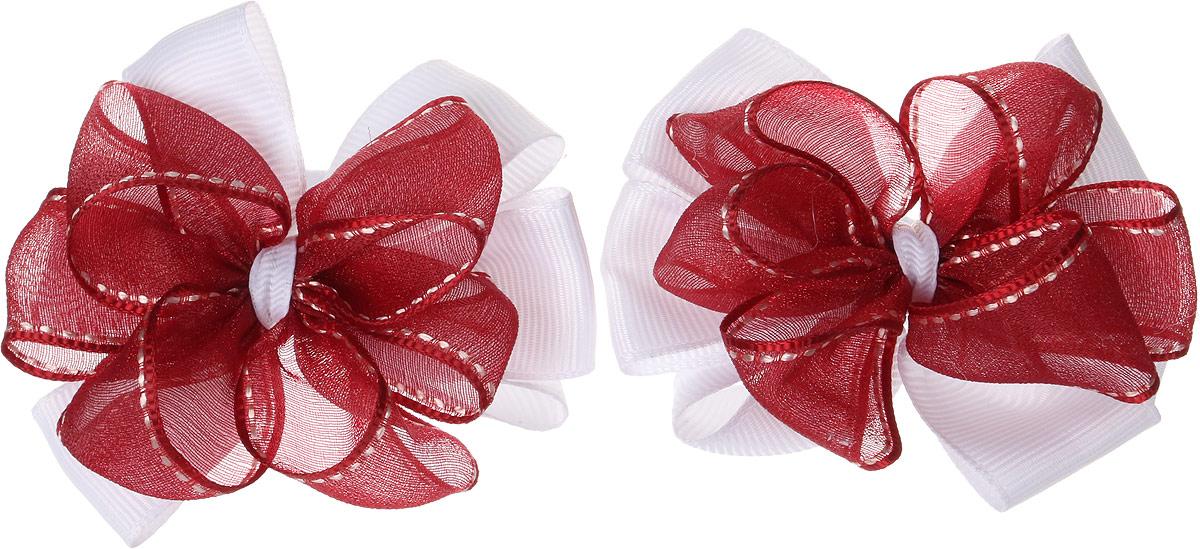 Бант для волос Baby's Joy, цвет: красный, 2 шт. MN 143/2