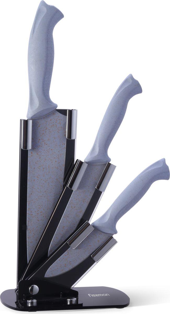 Набор ножей Fissman Gobi, на подставке, 4 предмета ножи для кухни лучшие