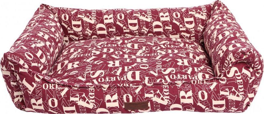 "Лежанка для животных Lion Manufactory ""Мэдисон"", цвет: бордовый, 60 х 45 см"