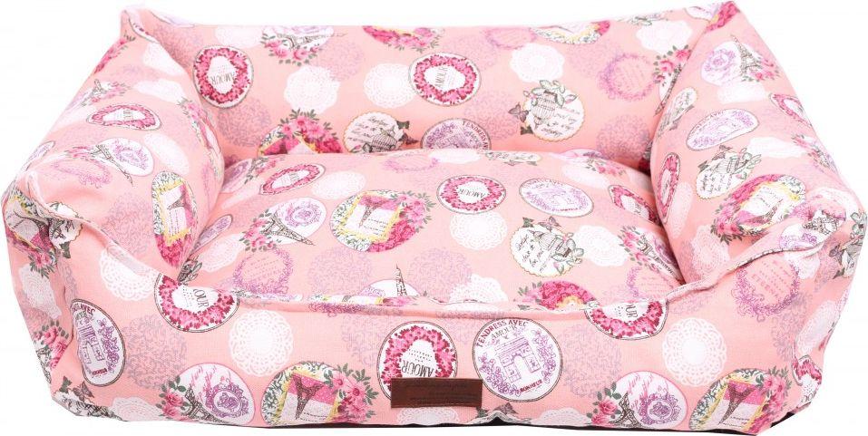 """Лежанка для животных Lion Manufactory """"Мэдисон"""", цвет: розовый, 60 х 45 см"""