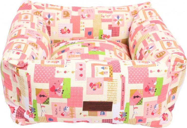 Лежанка для животных Lion Manufactory Мишель, цвет: розовый, 50 х 50 см лежанка для животных добаз цвет светло розовый серый 65 х 65 х 20 см