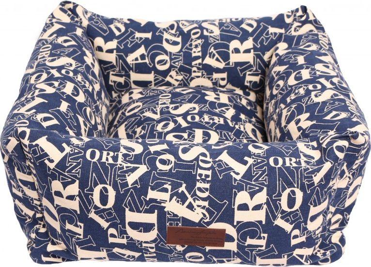 """Лежанка для животных Lion Manufactory """"Мишель"""", цвет: синий, 40 х 40 см"""