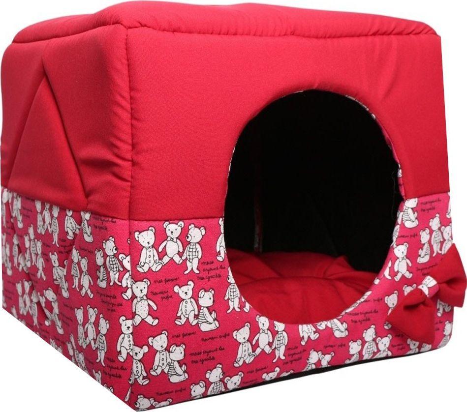 Домик для животных Lion Manufactory Кубик, цвет: красный, 40 х 40 х 40 см