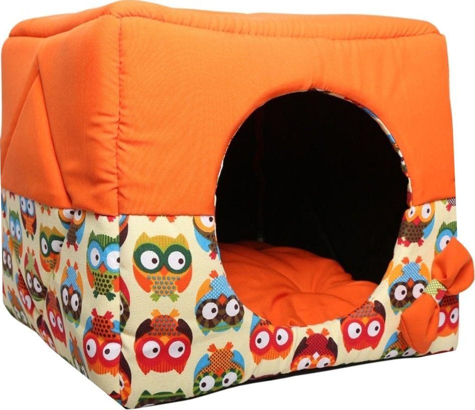 Домик для животных Lion Manufactory Кубик, цвет: оранжевый, 45 х 45 х 45 см