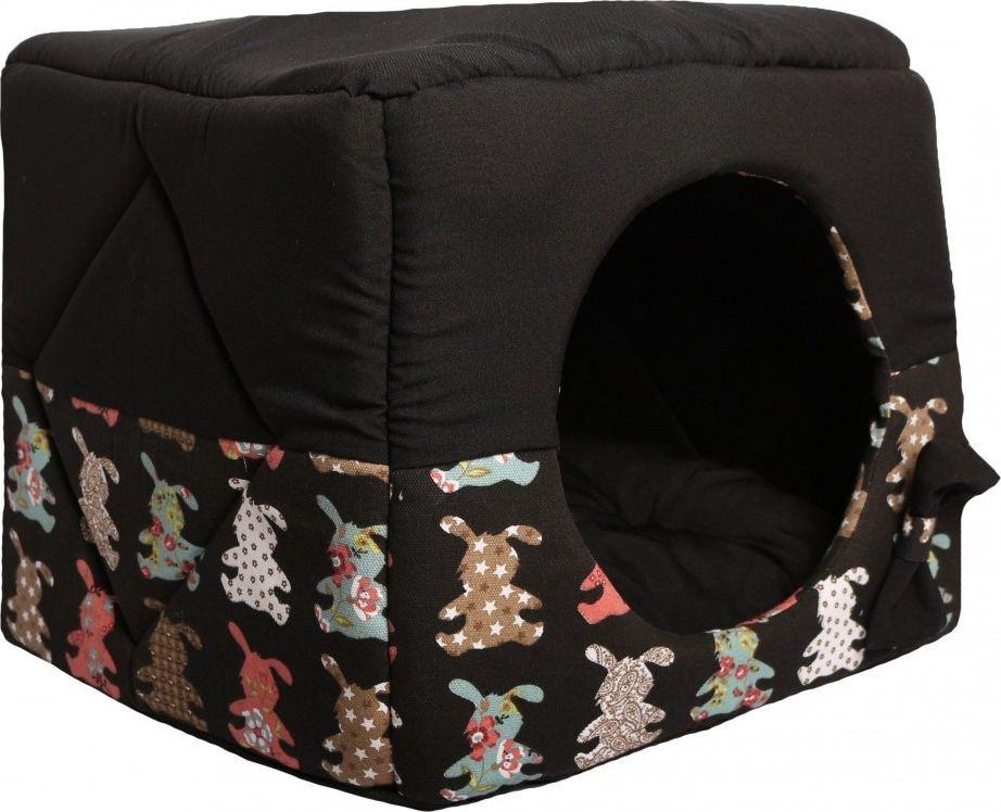 """Домик для животных Lion Manufactory """"Кубик"""", цвет: черный, 45 х 45 х 45 см"""