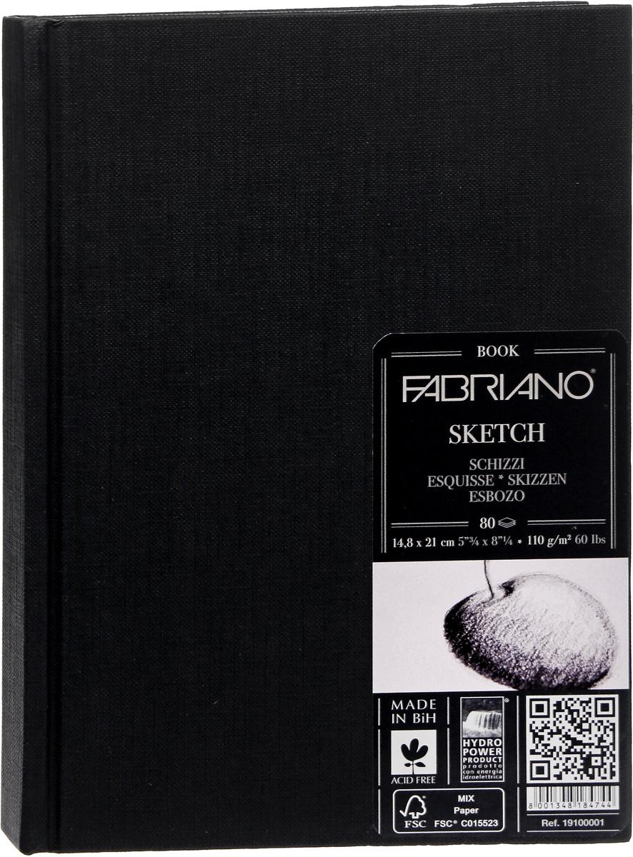 Fabriano Блокнот для зарисовок Sketchbook Портрет 80 листов формат A5 19100001 фолиант блокнот для зарисовок sketchbook