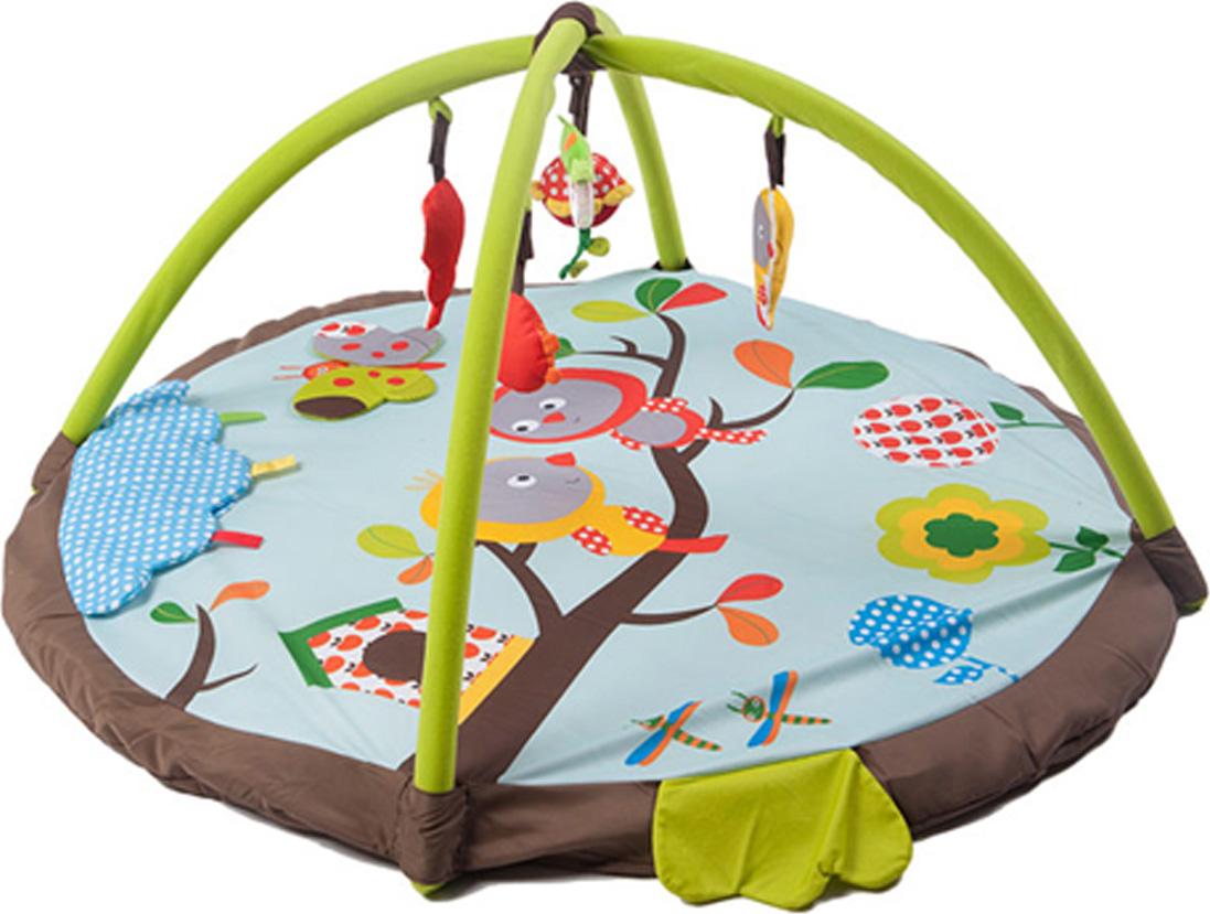 Felice Развивающий коврик Птицы на ветке 95 х 95 см развивающий коврик джамбо с музыкальным эффектом
