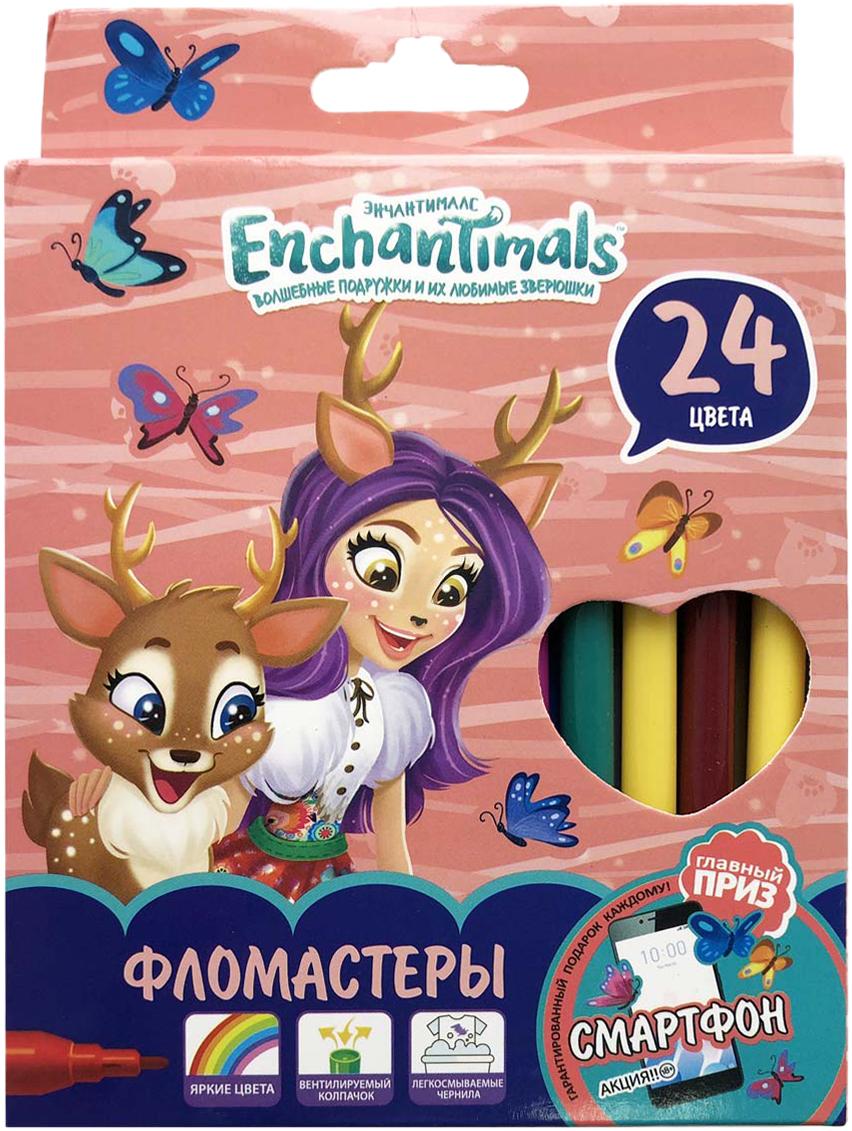 Mattel Фломастеры Enchantimals 24 цвета фломастеры bic kids kid couleur 24 цвета