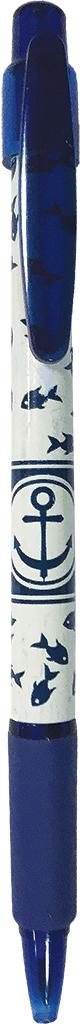 Expert Complete Ручка шариковая автомат с дизайном Lifestyles Якорь цвет чернил синий expert complete ручка шариковая stick цвет корпуса оранжевый синяя