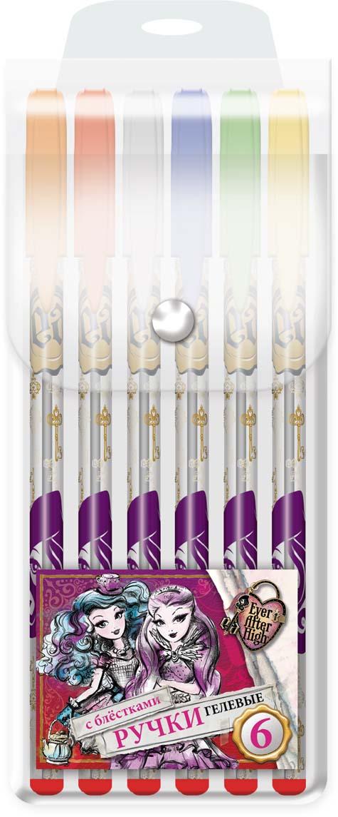 Mattel Набор гелевых глиттерных ручек Ever After High печать на корпусе 6 цветов 0,5 мм корейский канцелярские канцелярские акварель ручка гелевые ручки комплект 10шт цвет kandelia