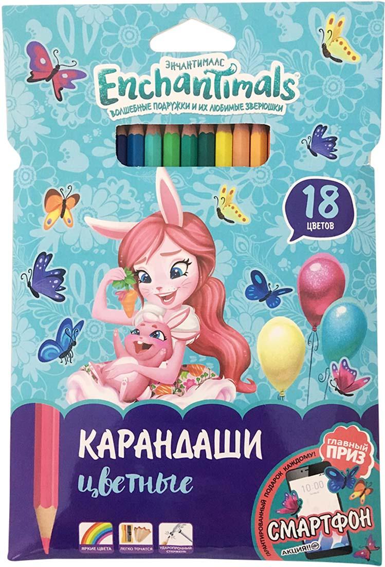 Mattel Карандаши цветные Enchantimals 18 цветов action цветные карандаши dragons 18 цветов dr acp205 18 голубой
